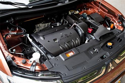 На фото изображен двигатель MIVEC.
