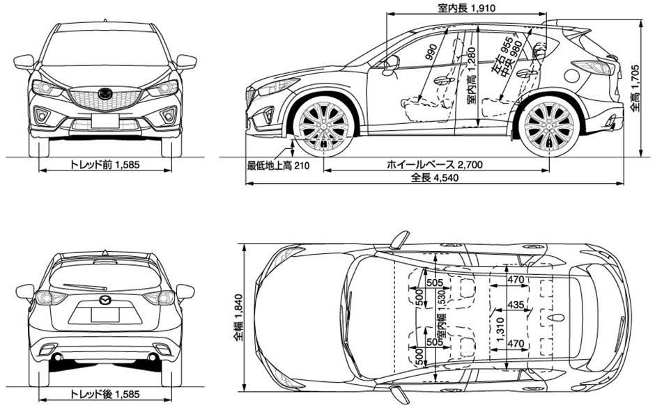 Рис. 5. Параметры японской версии авто 2012–2015 года.