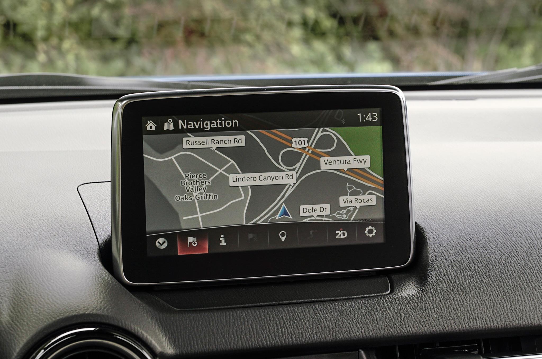 Рис. 6. Экран навигатора на передней панели.