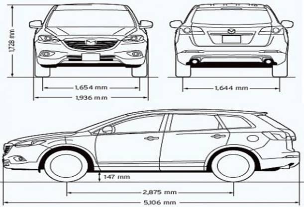 Технический рисунок автомобиля