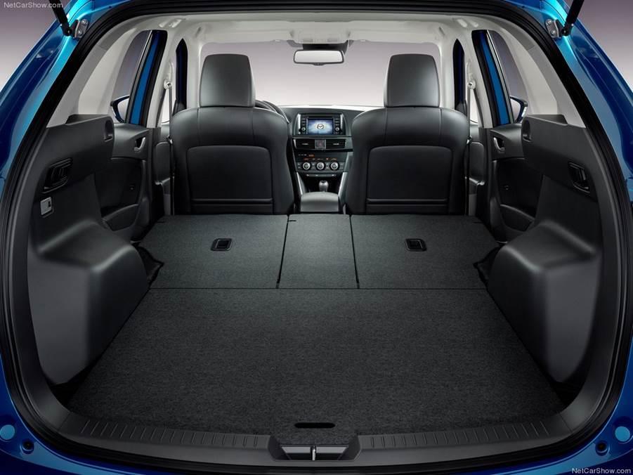 Рис. 3. Багажное отделение CX-5 при полностью сложенных креслах 2-го ряда.
