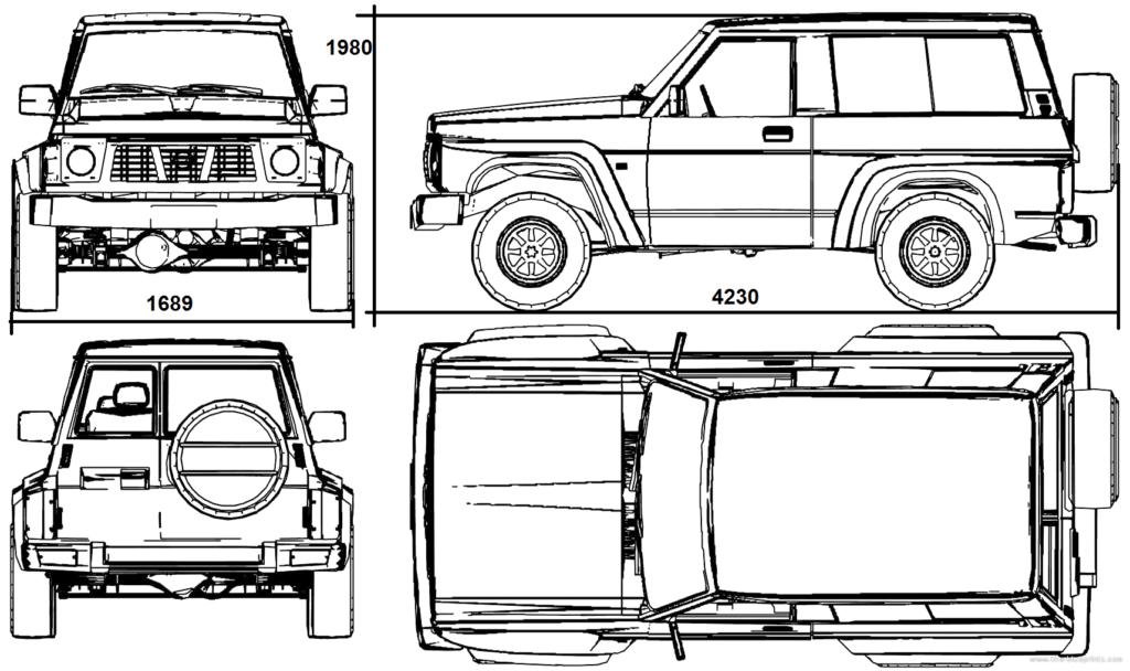 Рис. 3. Размеры третьего поколения авто.